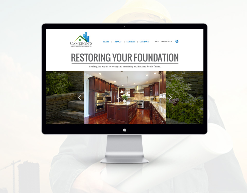 Cameron's Home and Commercial Restoration website